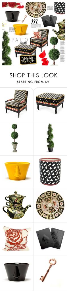 """""""Decorate a Wonderland: Patio Style"""" by stacey-lynne ❤ liked on Polyvore featuring interior, interiors, interior design, home, home decor, interior decorating, MacKenzie-Childs, Improvements, Dedal and Threshold"""
