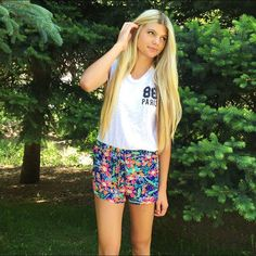 We're excited about summer and our June GIVEAWAY that will be posted tomorrow! Shorts: $22.00 Shirt: $16.00