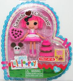 Lalaloopsy ~ CRUMBS LOVES CHOCOLATE Mini Doll ~ NEW