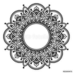 Vector:  Mehndi lace, Indian Henna tattoo round design or pattern