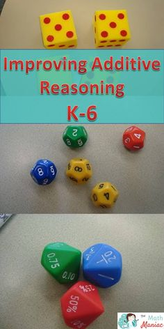 Having many kinds of dice leads to many ways to improve additive reasoning.  Quick, easy, no prep games and routines to add to your classroom today!