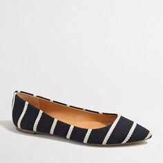 J.Crew+Factory+-+Factory+Amelia+textured+stripe+flats