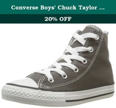 Converse Boys' Chuck Taylor All Star Hi Top (Inf/Tod) - Charcoal - 6 Toddler. Converse Chuck Taylor All Star Hi Top (Inf/Tod) - Charcoal The original basketball shoe is now defined as a stylish modernday fashion staple Canvas lining and a cushioned footbed provides hours of comfort. Durable canvas upper Signature Converse rubber outsole Features: Canvas Rubber sole Canvas upper in a sweet high-top silhouette. All Star logo patch at side to let you know that you've got on the real thing....