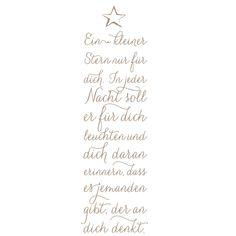 Mundart Stempel - ein kleiner Stern nur für dich