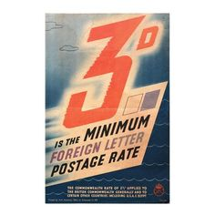 General Post Office, Postage Rates, Sheds, The Twenties, 3 D, How To Apply, Posters, Lettering, Design