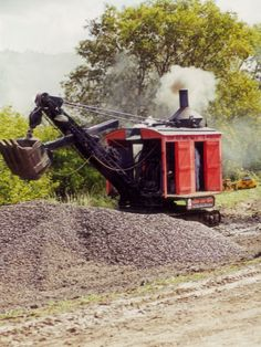 Steam shovel, one of many pictures.