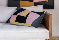 Niki Jones  If you ever need a beautifully designed cushion as the finishing touch for a room, head straight on over to Niki Jones. The wonderful embroidery and well thought out designs give the cushionsa an enchanced sense of luxury, including this Charleston design, inspired by a mid-century painting the cushion is playful yet sophisticated.