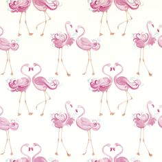 Pretty Flamingo Wallpaper at Laura Ashley