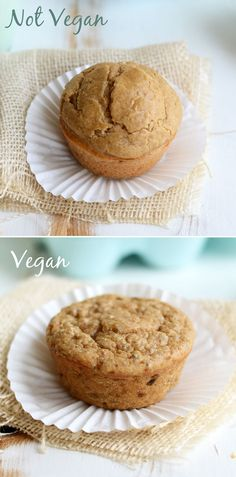 Single-Serve Peanut Butter Muffin 2 Ways #glutenfree #vegan #recipe