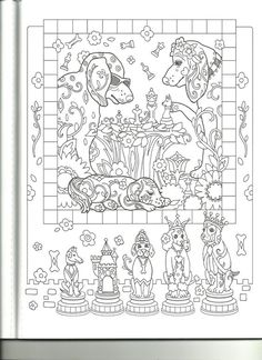 Adult Coloring Pages Colouring Books Dog Drawings Fractals Relax Puppies Art