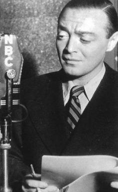Peter Lorre and microphone