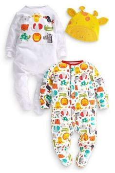 Buy Bright Animals Sleepsuits Two Pack (0-12mths) from the Next UK online shop