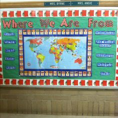 Where we are from- ESL bulletin board--I don't care for the design, but I love the idea!