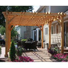 Outdoor Living Today Breeze 20 Ft. W x 12 Ft. D Cedar Pergola & Reviews | Wayfair