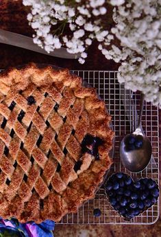 This holiday season bring the cozy flavor of homemade buttery crust blueberry pie to the table to share. So easy to make and even more delicious to eat.