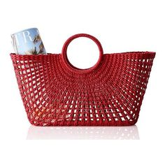 Mark & Graham Sunburst Beach Tote, Red ($49) ❤ liked on Polyvore featuring home and outdoors