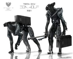 Ion Wolf - Concept art by Aaron Beck for Elysium