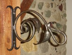hand forged plant hanger. 04-24-13