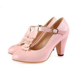 Charm Foot Fashion T Strap Womens High Heel Mary Jane Pumps Shoes