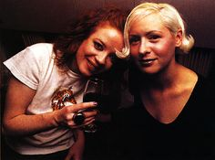 D'Arcy and Shirley Manson; 90s.
