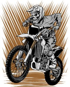 Motorcross Bike, Enduro Motorcycle, Motorcycle Art, Motocross Tattoo, Dirt Bike Tattoo, Bike Drawing, Graffiti Drawing, Dirt Bike Bedroom, Lion Sketch