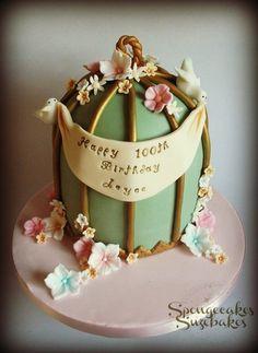 100th Birthday Birdcage Cake & Grandmas 100th birthday party | FAMILY | Pinterest | Birthdays ...