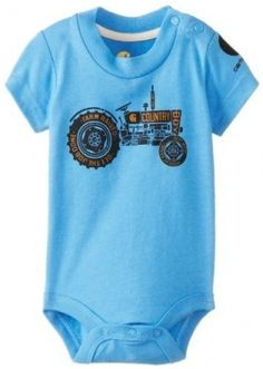 Carhartt Baby-Boys Infant Retro Tractor Bodyshirt, Silver Lake Blue, 6 Months Colour: Silver Lake Blue Size: 6 Months Infant, Baby, Child
