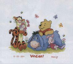 Cross Stitch Of Winnie The Pooh