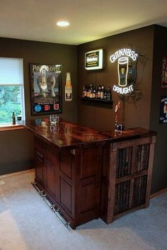 diy home bar ideas 42 Stunning Home Bar Design Ideas For Your Sweet Home Home Bar Rooms, Home Bar Sets, Diy Home Bar, Home Bar Decor, In Home Bar Ideas, Basement Bar Designs, Home Bar Designs, Basement Ideas, Small Basement Bars