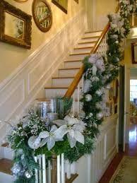Savannah Granny::My Blue Christmas! Christmas Stairs Decorations, Christmas Staircase, Christmas Swags, Woodland Christmas, Elegant Christmas, Blue Christmas, Christmas Tree Toppers, Rustic Christmas, Beautiful Christmas