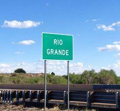 Mighty Rio Grande River crossing in New Mexico.