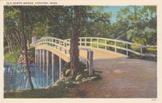 Old North Bridge Concord Mass.  Vintage by postcardsofthepast, $2.50