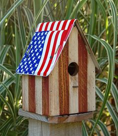 American flag birdhouse