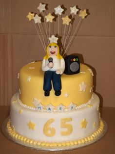 karaoke cake Bithday Cake, All Fruits, Theme Parties, Karaoke, Cake Designs, Cake Ideas, 30th, Cake Toppers, Party Time