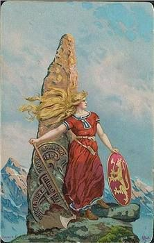Viking Shield Maiden.  Some women fought as fierce warriors in ancient Germania.