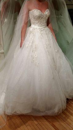 Allure premium sweetheart strapless sparkly wedding dress