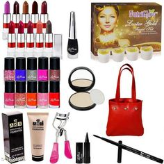 Makeup Kits Premium Choice Makeup Kit Combo Product Name: Classis Range Makeup Combo (Set Of 28 Pieces) C363 Product Type: Makeup Kit Combo  Product Description: Get an expert like professional touch with the Combo. The luminous silky formula gives a natural looking radiance to your skin. The products come in an amazing combination of shades that will add a perfect hint of color which will blend effortlessly with your look. This Combo Sets by copy is the All in one set that has all you need for a professional makeup each individual makeup is manufactured with high quality materials Package Contains: It Has 1 Pack Of Makeup Kit Combo Country of Origin: India Sizes Available: Free Size   Catalog Rating: ★3.9 (2654)  Catalog Name: makeup kit Sensational Choice Makeup Kit Combo Vol 3 CatalogID_211302 C51-SC1245 Code: 285-1624316-4953