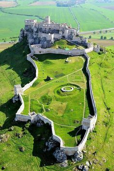 Spiš Castle in eastern Slovakia is one of the largest castle sites in Central Europe.