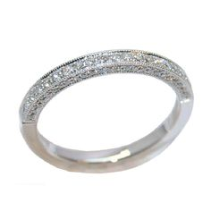 Wedding Band with 0.33 cttw. Diamonds in 14 KW Gold