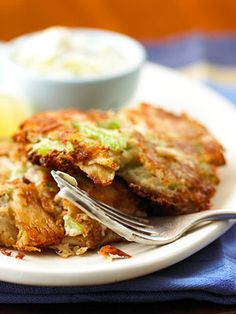 Sizzling and ready to eat in less than 20 minutes, these mashed potato patties get a boost of protein from tuna.