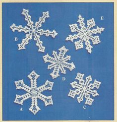 Plastic Canvas Pattern  Snowflakes  Christmas by MsBobbies on Etsy, $1.75