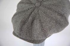 fd7e5d07 Grey Herringbone Yorkshire Tweed Peaky Blinder style caps available at www. kempadoo.com S