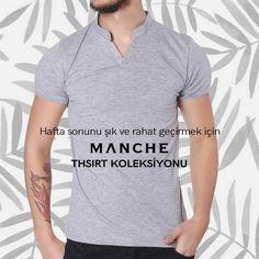 Hafta sonu şıklığınızı rahat ve hafif geçirin! Manche tişört koleksiyonu için 👉 http://www.manche.com.tr/koleksiyon/yaz-koleksiyonu/hakim-yaka-basic-tişört-gri