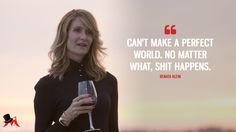 Renata Klein: Can't make a perfect world. No matter what, shit happens.  More on: http://www.magicalquote.com/series/big-little-lies/ #RenataKlein #BigLittleLies