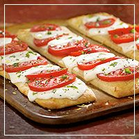 Caprese Pizzas . . . a different and yummy take on pizza.