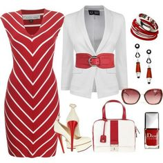 I love red! #businessattire minus the shoes