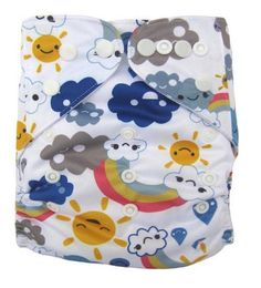 Rainy Rainbows Cloth Diaper