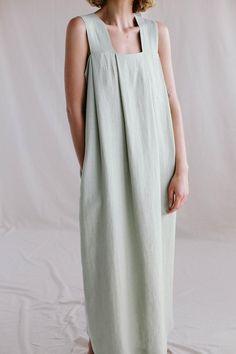 Linen Dresses, 1950s Dresses, Maxi Dresses, Vintage Dresses, Kimono Dress, Dress Making, Fitness Fashion, Simple Style, Lounge Wear