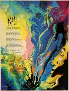 1951 Print James Bingham Bali Rupert Brooke Poetry Poem - ORIGINAL AD #vintage #color