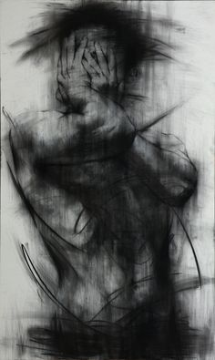 [90] untitled charcoal on canvas 162 x 96 cm 2013 on Drawing Served- stunning work.